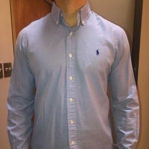 POLO Ralph Lauren Slim Fit Blue Dress Shirt